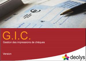 GIC Gestion Impression des chèques